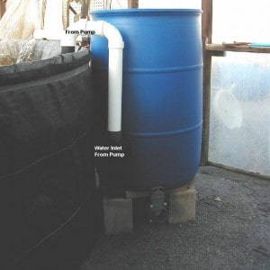 drum or barrel pond filter